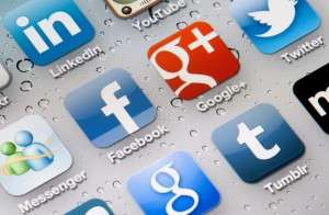 various social media icons - google, facebook, twitter
