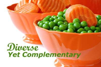 Peas and Carrots photo shows how SEO and Website services