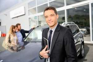 Successful car salesman