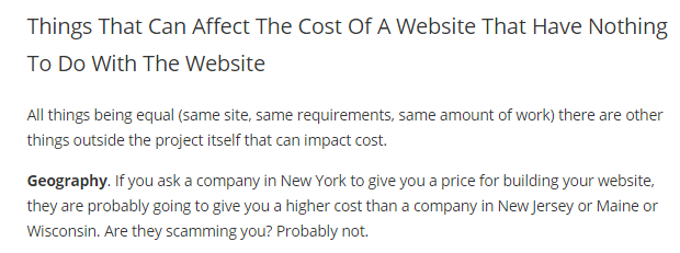 affect the cost