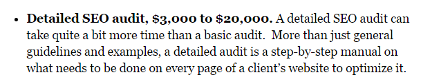 detailed audit