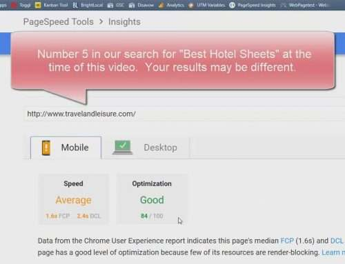 screen capture of travelandleisure.com in pagespeed insights