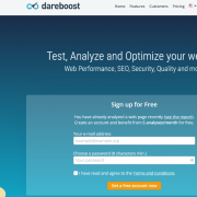 screen capture of Dareboost SEO checker home page