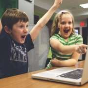 picture of children having search engine success