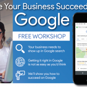 promotion image for the Google My Business Free SEO Workshop